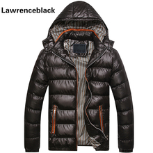 Mens Jackets Padded Hooded Design 2016 Brand Thick Warm Zipper Parka Winter Male Jacket Slim Fitness Quilted Super Warm Coats 86(China)