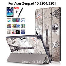 "Case For ASUS Zenpad 10 Z301MLF Z301ML Z301 10.1"" Cover Funda Stand Tablet Case For Asus Zenpad 10 Z300CL Z300C Z300m +Film+Pen(China)"