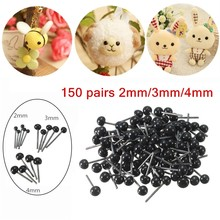 Brand New 150Pairs/Lot Glass Flat Eyes Kit 2/3/4mm For Needle Felting Craft Baby Animals Dolls DIY Accessories