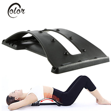Health Care Back Massage Magic Stretcher Waist Relax Mate Lumbar Back Support Spine Pain Relief Chiropractic Fitness Equipment(China)