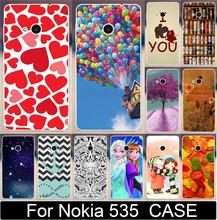 1PC/lot Love You Moon Ballon Beer Anchor Leaf Princess Paiting Cases For Microsoft Nokia Lumia 535 Mobile Phone Case Cover Shell