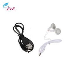 Earphones for a Mobile Phone High quality 3.5mm In-ear Portable Stereo Headsets for iPhone MP3 MP4 Player Charger Data Cable *