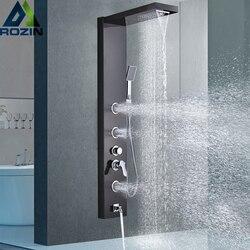 Матовый никелевый душ панельный душ колонна настенный дождь смеситель для душа, водоспад башня одной ручкой смеситель кран