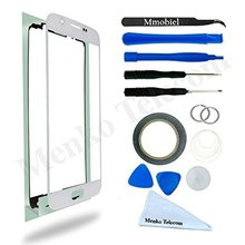 For Samsung Galaxy S6 G920 Gold White Black Blue Display Touchscreen replacement kit 12 pieces incl tools / pre cut Sticker(China)