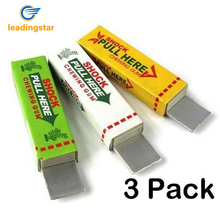 Leadingstar 3pcs Electric Shock Chewing Gum Tricky Prank Gag Funny Toy for Shock Friends Practical Joke zk15