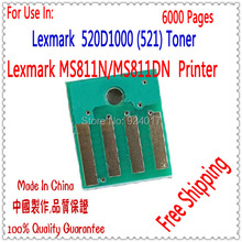 Compatible Lexmark MS811 Toner Chip,For Lexmark MS811N MS811DN Reset Toner Chip,For Lexmark MS811DTN 52D1000 (521) Toner Chip,6k(China)