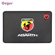 Car-Styling Mat Car Stickers Case For Fiat Punto Abarth 500 124 Stilo Ducato Palio Badge Emblem Interior Accessories Car Styling(China)