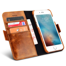 Luxury Leather Case For iPhone 7 Flip Wallet Coque + TPU Silicon Back Cover For iPhone 7 Plus Capinha With Tracking Number
