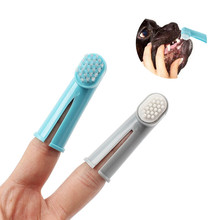 3pcs/set Dog Finger Toothbrushes Tooth Care Brush Goods For Pet Teddy Animals Bad Breath Tartar Cleaning Products Item Supplies(China)