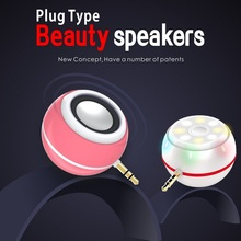 Fashion Hot 5 Colors Multifunctional Selfie Spotlight Flash Beauty Speaker For Mobile Phone Portable Plug Speaker Music Player