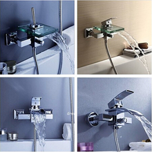 5-Style Bathroom Faucet Bath Shower Faucet In-Wall Waterfall Mixer Tap Bathtub Crane bathroom shower faucet set(China)