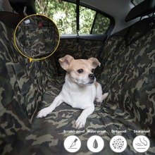 Camouflage Dog Car Seat Cover Mat Pet Travel Universal Waterproof Hammock for Cars Trucks SUV(China)