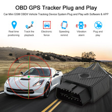 OBD GPS Tracker Car Mini GSM OBDII Vehicle Tracking Device System Plug and Play with Software & APP(China)