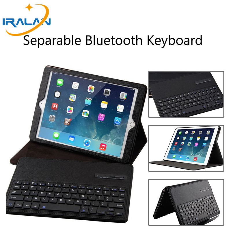 2017 new For iPad Pro 10.5 Magnetically Detachable ABS Bluetooth Keyboard Portfolio Folio PU Leather Case Cover + Stylus  +Film<br>