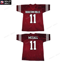 Scott McCall #11 Teen Wolf Beacon Hills Lacrosse American Football Jersey Beast Beat 2017 Men's Free Shipping futebol americano(China)