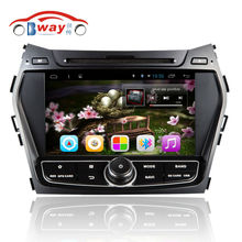 "Free shipping 8"" capacitive Android 6.0 car radio for HYUNDAI IX45 Santa fe 2013 car dvd player with steering-wheel,GPS"
