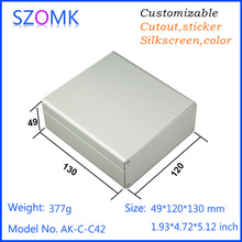 one piece AK-C-C42 Custom Processed Factory Extrusion Aluminum Material Electrical Junction Box Case Enclosure 49*120*130MM(China)
