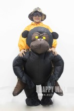 New Christmas Women/Men Riding Inflatable Gorilla Costume Cosplay Funny Inflatable Costume Halloween Monkey Costume For Adults(China)