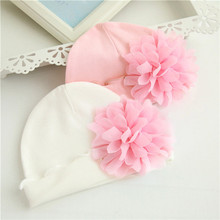 1 Piece Winter Autumn Crochet Baby Hat Girls Cap Beanie Flower Infant Cotton knitted toddlers New Children Floral(China)