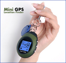 Car Keychain Handheld Mini GPS Navigation USB Rechargeable Location Tracker with Compass For Outdoor Travel Climbing Universal