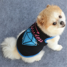 New Fashion Summer Cute Dog Pet Vest Puppy T Shirt diamond printing doggy cloth clothing dog Sportswear soccer jersey(China)