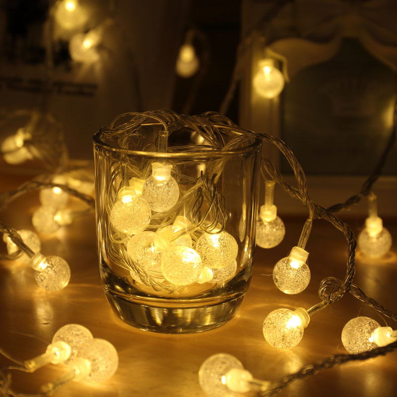 Beautiful New Year Party Decoration Fairy Globe Rope Light Tiny String Light Patio  Garden Wedding Ornaments Bar Table Curtain Wall Decor