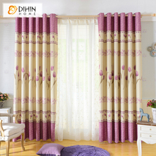 DIHIN 1 PC Grommet Top  Printed Blackout Curtains for Kids Room Window Curtains for Living Room Bedroom Children Curtains Blinds