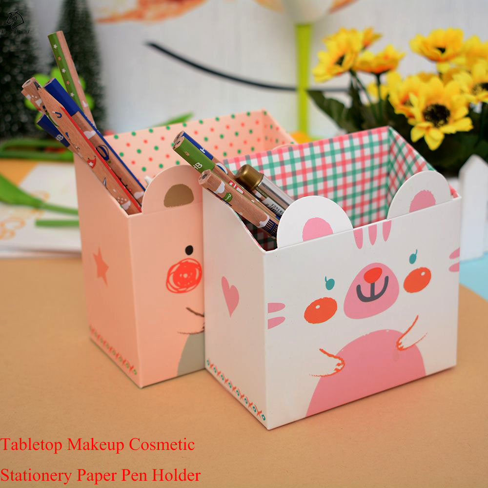 Desk Accessories & Organizer 1pc Wooden Cartoon Pen Holder Cute Animal Pen Box Students Supplies Gifts Desk Organizer Pencil Storage School Stationery Fashionable And Attractive Packages Office & School Supplies
