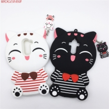 New 3D Cartoon Stripe Smile Fortune Plutus Cat Kitty Case Silicon Cover for Huawei Honor 6X Mate7 Mate8 Mate9 Mate 7 8 9(China)