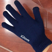 2016 colorful mobile phone touch Gloves smartphone driving glove gift for men women winter warm gloves(China)