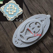 DIY European style relief lace mold cake border fondant cake molds soap chocolate mould for the kitchen baking FM1244