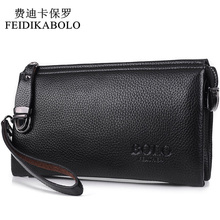 FEIDIKABOLO Famous Brand Men Wallet Luxury Long Clutch Handy Bag Moneder Male Leather Purse Men's Clutch Bags carteira Masculina(China)