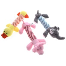 Holapet Pet Dog Squeak Toys Pet Puppy Chew Squeaker Squeaky Plush Sound Toy Cute Animal Design Toys For Small Dogs Pet Products(China)