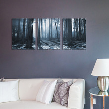 funlife Dark Forest Wall Poster Self-adhesive Living Room Bedroom Wall Paper Sofa Background Decorative Accessories Mural Poster