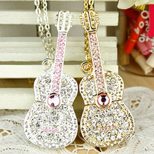 2.0 Crystal Guitar Usb Jewelry Flash Drive 64GB 32GB 16GB 8GB Pen Drive Pendrive Usb Creativo Flash Memory Stick 1TB 2TB Gift