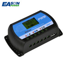 EASUN POWER Solar Charge Controller 30A 20A 10A Voltage Regulator PWM Solar Charge Controller 12V 24V LCD USB 5V Solar Regulator(China)
