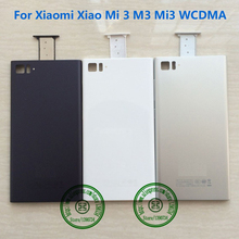 High Quality New Black Sliver White Back Battery Door Housing Cover For Xiaomi Xiao Mi 3 M3 Mi3 WCDMA Version