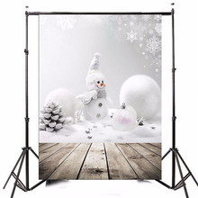 3x5ft Photography Vinyl Background Christmas Theme Snowman Photographic Backdrops For Studio Photo Props 0.9m x 1.5m