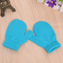 Unisex Knitting Warm Soft Gloves Kids Boys Girls Candy Colors Cute Mittens
