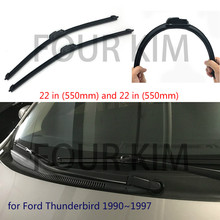 "Wiper blade for Ford Thunderbird 1990~1997 22''+22"" U/J Hook Car Windscreen No bone Wiper WP-174(China)"