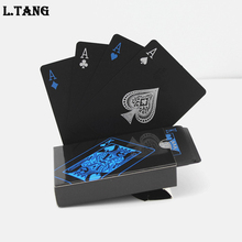 L.TANG High Quality Black Plastic PVC Poker Waterproof Magic Box-packed Playing Cards Creative Gift S387