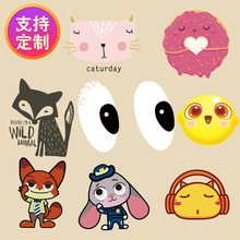 Handicrafts clothing patch cloth stickers decorative decals cartoon characters thermal transfer Offset Tang Hua pattern DIY