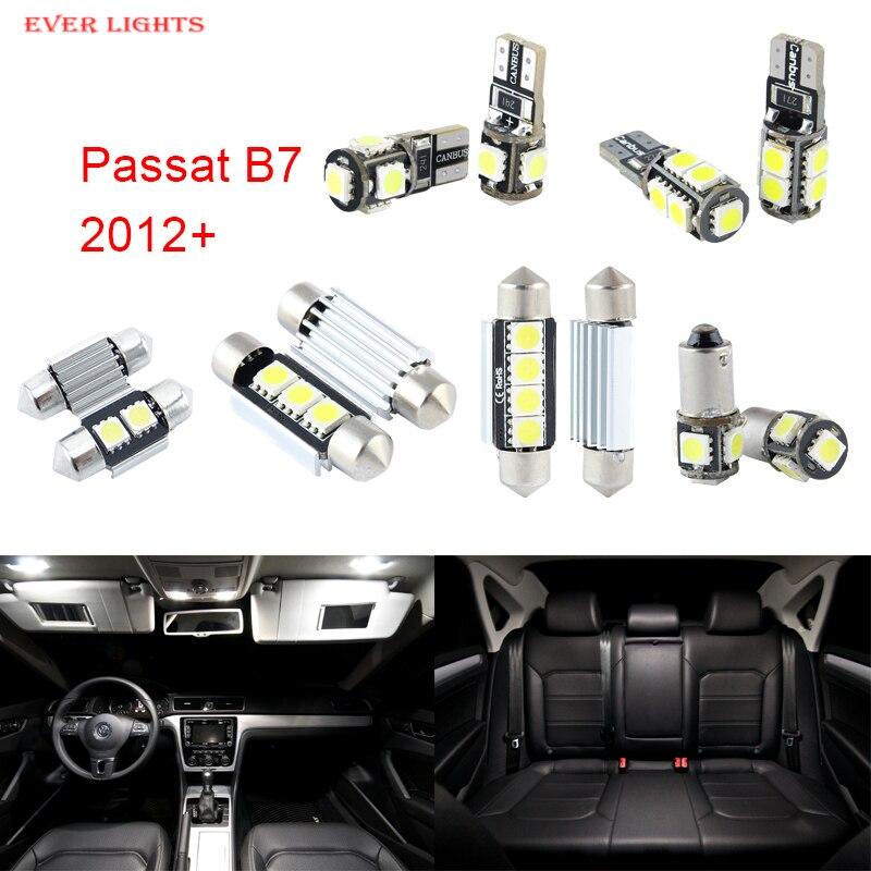 14pcs LED Canbus Interior Lights Kit Package For Volkswagen VW Passat B7 (2012+)<br><br>Aliexpress