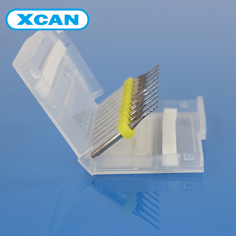XCAN 10pcs 1.0mm PCB Carbide Tools CNC Cutting Bits Millinging Cutters Kit for Engraving Milling Machine<br><br>Aliexpress
