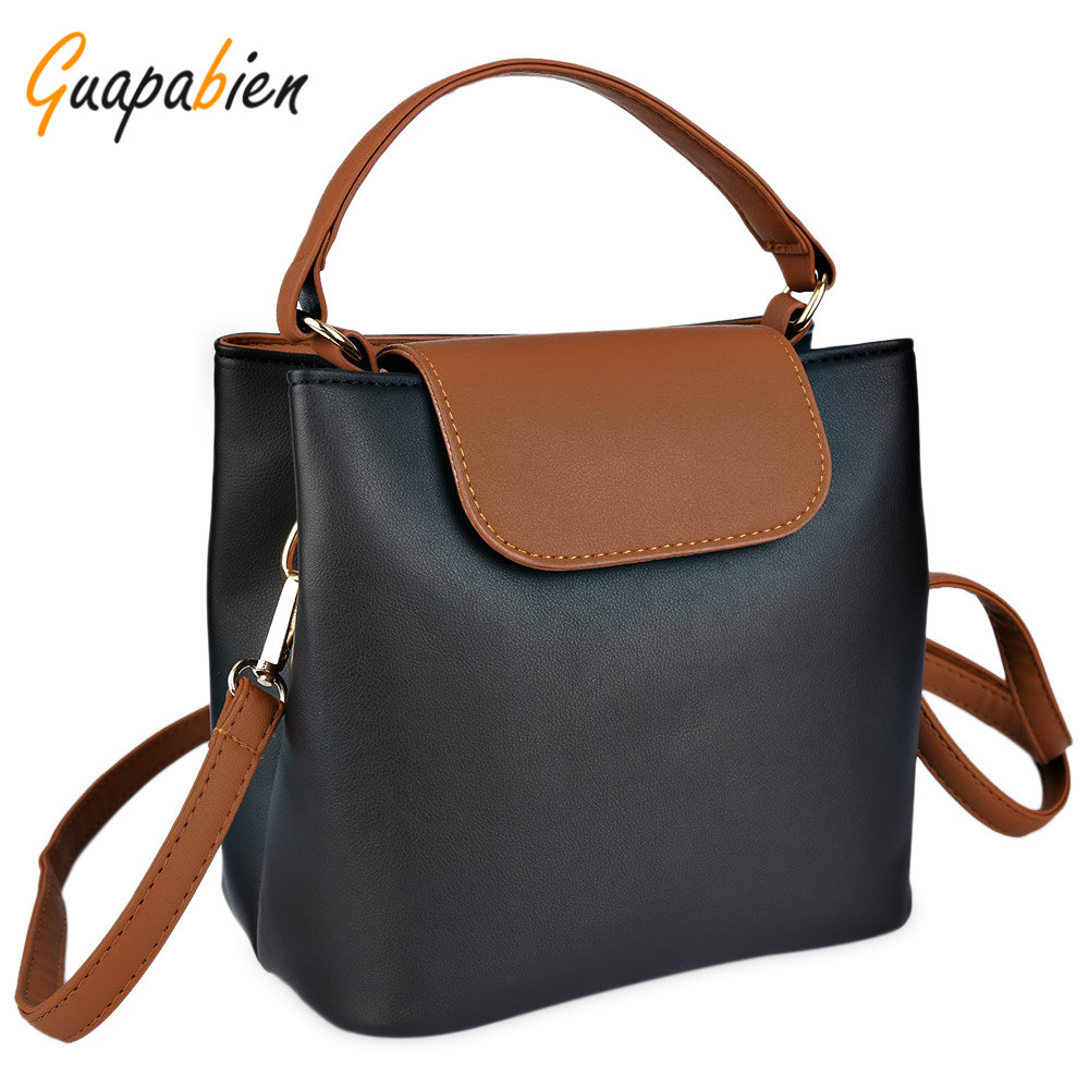 Guapabien Brief Women Leather Handbag Color Block Small Shoulder Messenger Bags Ladies Mini Hasp Phone Wallet Cross Body Bags<br><br>Aliexpress