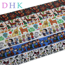 DHK 50yards dog cartoon mexico cactus printed grosgrain Ribbon Accessory hairbow headwear decoration Wholesale OEM S984