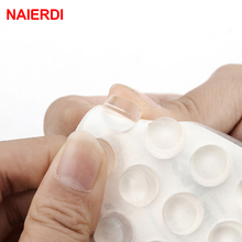 NAIERDI 40pcs Door Stopper 12MM Dia 5MM Thickness Silicon Rubber Kitchen Cabinet Self-Adhesive Damper Pad Furniture Hardware