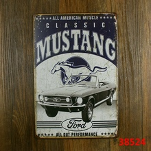 All American muscle mustang all out performance! metal tin sign vintage plate wall decoration for home bar cafe garage and so on