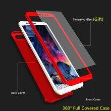 360 Protective Case Xiaomi Redmi Note 2 3 4 4x 5 5A Pro Case Xiomi Note2 Note3 Note4 Note5 Cover Case Tempered Glass