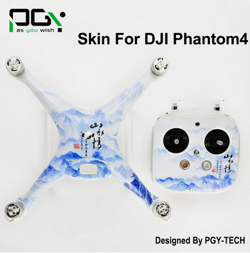 Phantom4/ phantom 4 3m PVC Stickers Skin done parts accessories Waterproof professional Quadcopter CN3 2017 NEW PGY<br><br>Aliexpress